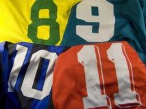 Uniform mit verschiedenen Zahlen Lizenzfreies Stockbild