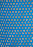 Uniform Punched Holes in Blue Metal Bin Royalty Free Stock Photos