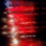 Striped glitter background with glitch effect. Uniform red background with glitch effect. Colorful bright mosaic vertical scarlet strips on black. Background for vector illustration
