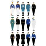 Uniform of Russian and Soviet sailors (1852-1994 gg.) Royalty Free Stock Photography