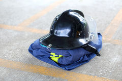 Uniform safety for firefighter Royalty Free Stock Image