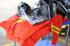 Uniform safety for firefighter Royalty Free Stock Photography
