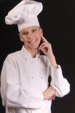 In uniform Vrouwelijke Chef-kok royalty-vrije stock fotografie
