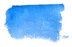 Uniform watercolor stain rectangle on a white background. Isolate stock photography