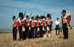 Uniforme d'histoire d'armée britannique Images stock