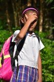 Uniforme de Bright Sunlight Wearing del estudiante foto de archivo