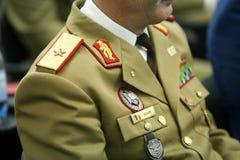 Uniforme de général d'étoile du Roumain un photo libre de droits