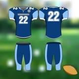 Uniforme de los deportes profesionales para el fútbol americano Imagen aislada ilustración del vector