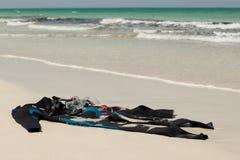 Uniforme de plongée sur la plage Images stock