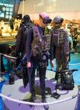 Uniforme de Shayetet 13 présenté sur l'exposition de militaires image stock