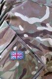Uniforme del cammuffamento del soldato dell'esercito britannico Fotografia Stock