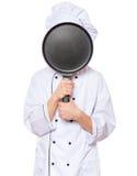 Uniforme del cocinero del muchacho que lleva adolescente Fotos de archivo libres de regalías