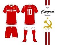 Uniforme del equipo nacional del fútbol de Unión Soviética ilustración del vector
