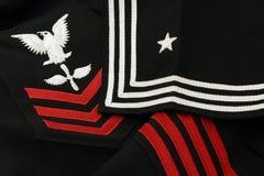 Uniforme del marinaio del blu marino di Stati Uniti del particolare Immagine Stock Libera da Diritti