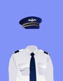 Uniforme del pilota Fotografia Stock Libera da Diritti