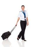 Uniforme del pilota della donna Fotografie Stock