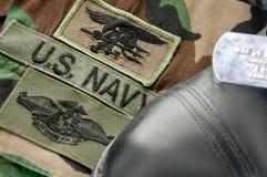 Uniforme del SELLO de la marina Foto de archivo