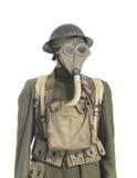 Uniforme del soldado de la Primera Guerra Mundial aislado. Fotografía de archivo