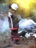 Uniforme del vigile del fuoco Fotografia Stock Libera da Diritti