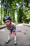 Uniforme desgastando do esporte da menina ativa Fotos de Stock