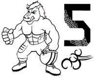 Uniforme do futebol americano do cavalo do músculo Imagem de Stock Royalty Free