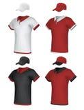 Uniforme e berretto da baseball in bianco Immagini Stock