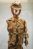 Uniforme giapponese dello studente visualizzata nel museo del memoriale di pace di Hiroshima immagini stock libere da diritti