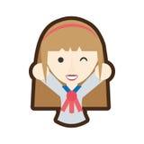 uniforme japonais d'étudiante de bande dessinée illustration libre de droits