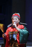 Uniforme llevado asesor del funcionario de China antigua Foto de archivo libre de regalías