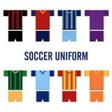 Uniforme Logo Template du football Images stock