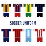 Uniforme Logo Template du football Photographie stock libre de droits