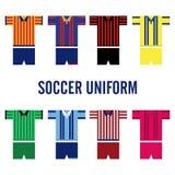 Uniforme Logo Template du football Images libres de droits