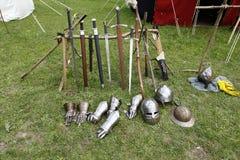 Uniforme medieval de los caballeros Imagen de archivo