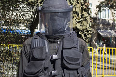 Uniforme militar negro imagen de archivo