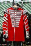 Uniforme rossa del cappotto immagini stock