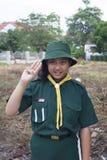 Uniforme tailandés del verde del girl scout Fotografía de archivo