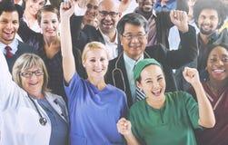 Uniforme Team Success Concept di occupazione di variazione Fotografie Stock Libere da Diritti