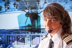 Piloto da linha aérea Imagem de Stock Royalty Free