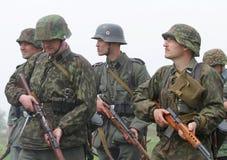 Uniforme y munición alemanes de ww2 Fotografía de archivo libre de regalías