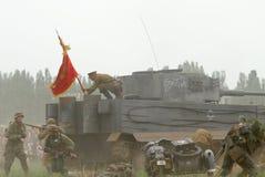 Uniforme y munición alemanes y soviéticos de ww2 Foto de archivo libre de regalías