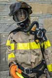 Uniformed Firefighter manequin Stock Images