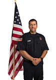 Uniformed Firefighter Portrait Stock Photos