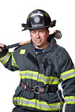 Uniformed Firefighter Standing Portrait Royalty Free Stock Photo