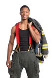 Uniformed Firefighter Standing Portrait Royalty Free Stock Photos