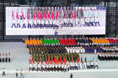 Uniformed groups marching at NDP 2011 Stock Photos