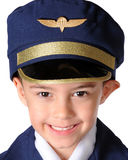 Uniformed Kindergarten Pilot Stock Image