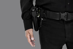 Uniformed Man with Handgun Royalty Free Stock Photos