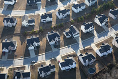 Uniformed Modern Suburban Homes Aerial Royalty Free Stock Photos