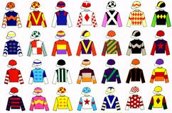 Uniformes de jockey Images libres de droits
