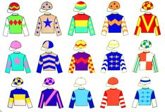 Uniformes de jockey Photographie stock